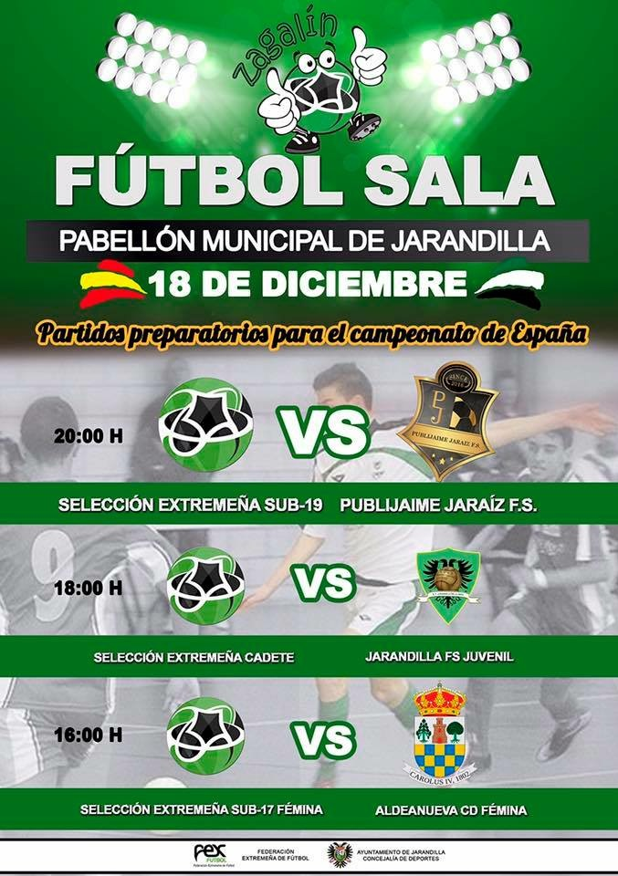 Jarandilla de la Vera, Banco de pruebas para las Selecciones de Fútbol Sala