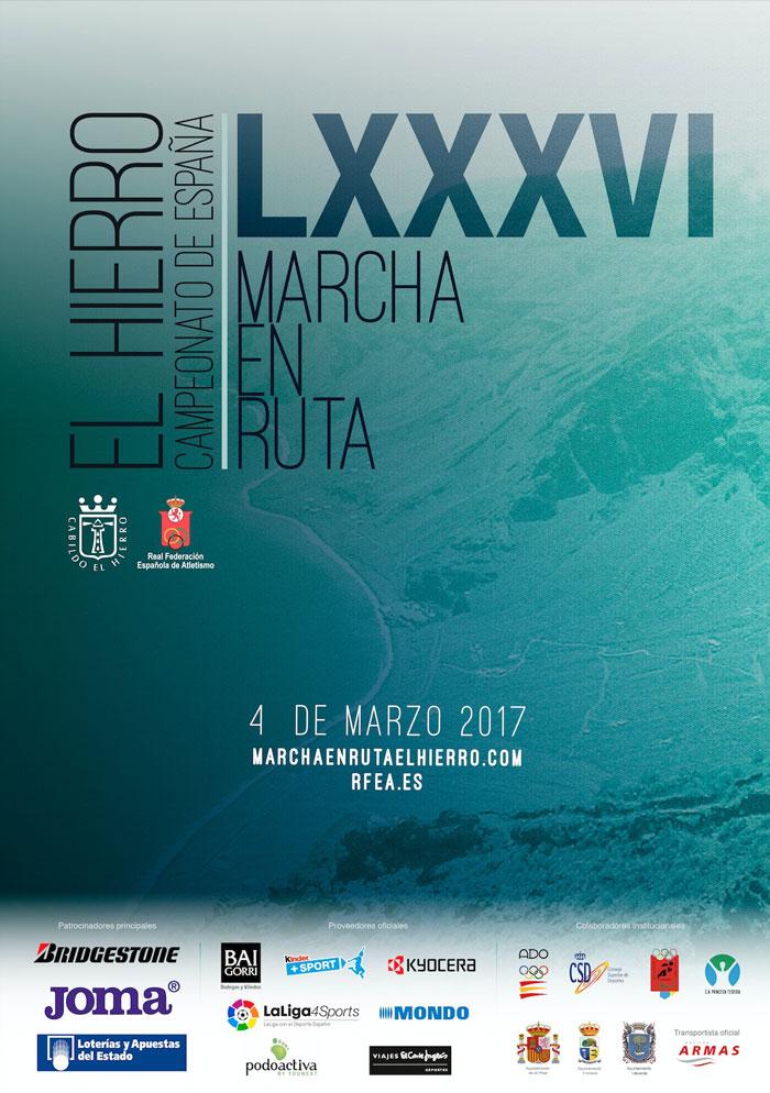 Campeonato de España de Marcha en Ruta en Valverde en la isla de El Hierro