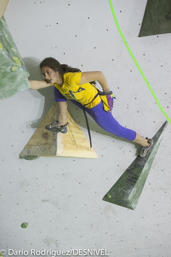 Antia Freitas quedó quinta en The Climb Open Boulder Festival 2015