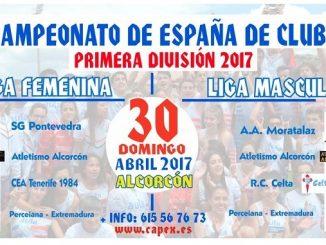 Presentación de la jornada de primera división masculina y femenina del Campeonato de España de Clubs - Primera División Nacional
