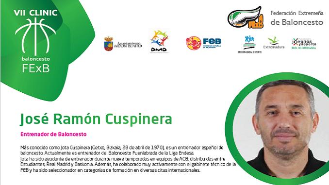 "Entrevista a José Ramón Cuspinera ""Jota"" ponente del VII Clinic Extremadura"