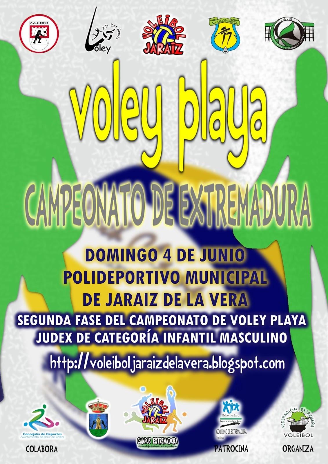 Mañana Segunda Fase del Campeonato de Extremadura de Voley Playa en Jaraíz de la Vera