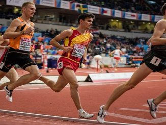 Sergio Paniagua en el Campeonato de Europa Promesas en la prueba de 1500ML