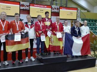 Miguel Periañez cuarto plaza en la prueba de los 20km marcha M50 en el europeo de veteranos