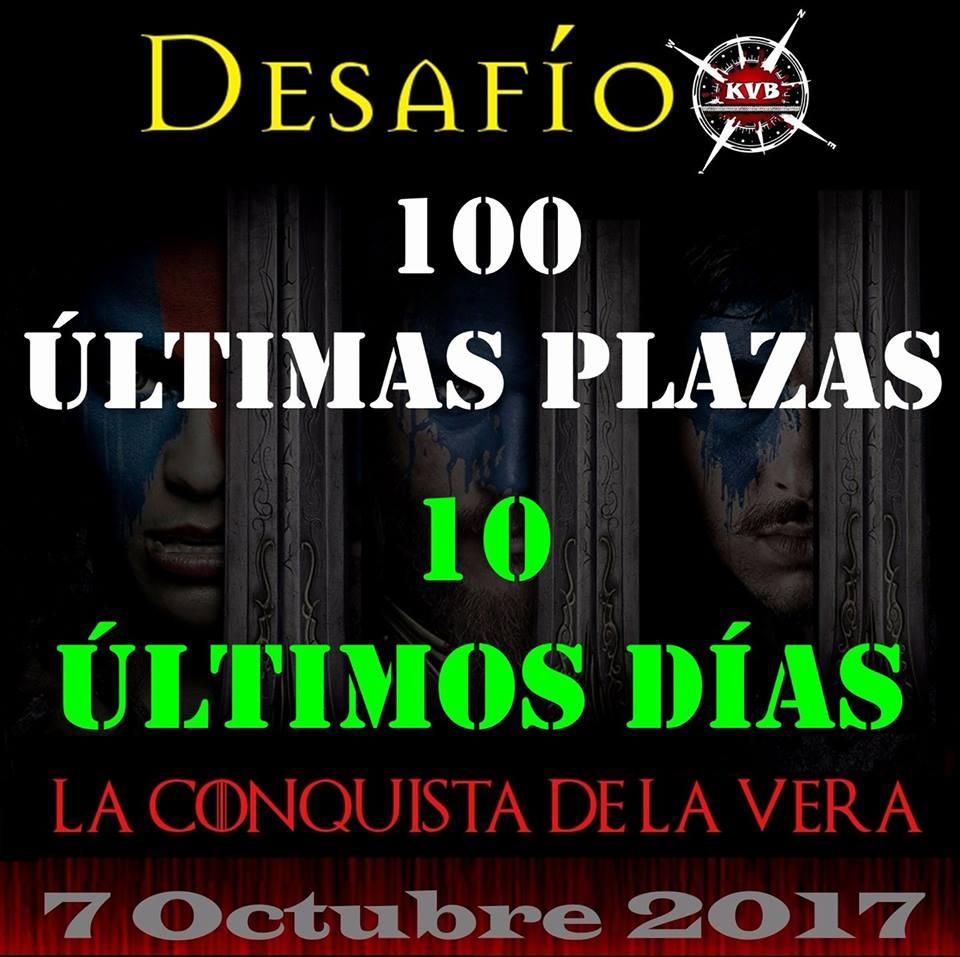Últimas 100 plazas Desafío KVB. La Conquista de La Vera