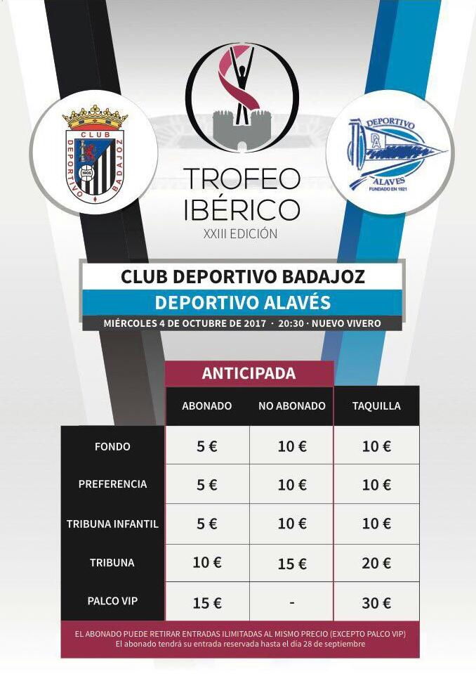 Trofeo Ibérico Club Deportivo Badajoz vs Deportivo Alaves