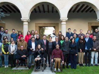 El presidente de la Junta de Extremadura recibe a los deportistas extremeño