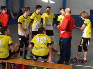 El equipo infantil masculino de la AD Voleibol Jaraíz en la Copa de España de Guadalajara
