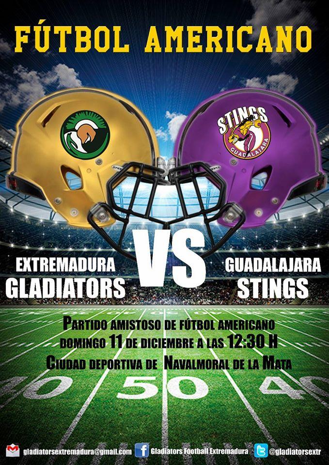 Extremadura Gladiators vs Guadalajara Stings el próximo día 11 de diciembre en Navalmoral de la Mata