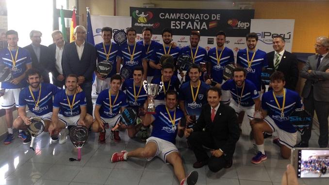 El Perú Cáceres Wellness se proclama Campeón de España de Pádel por Equipos de 2ª Nacional
