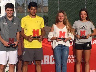 Diego Barreto y Lucía Santos ganadores del Torneo Marca Villanueva de la Serena