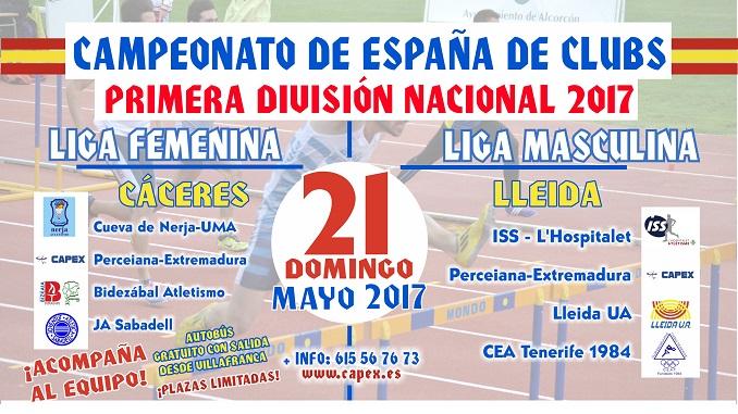El Capex viajara a Lleida y Cáceres para disputar sus cuadrangulares de Primera División Nacional