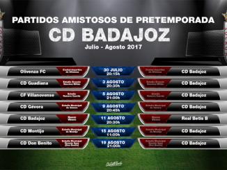 Partidos Pretemporada del Club Deportivo Badajoz