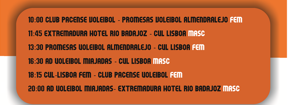Partidos del Torneo Ciudad de Badajoz Voleibol 2017