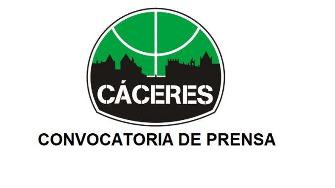 Rueda de Prensa Cáceres Basket - Cáceres Patrimonio de la Humanidad