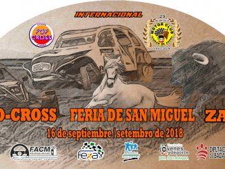 El domingo se celebra una nueva edición del Autocross Feria de San Miguel Zafra